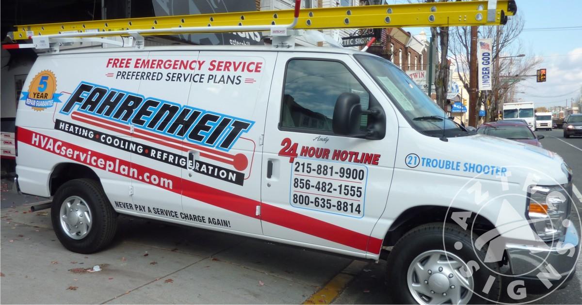 fleet van lettering